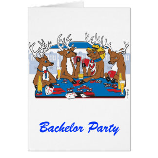 Bachelor Party Poker Player Greeting Card