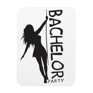 Bachelor Party Rectangular Photo Magnet