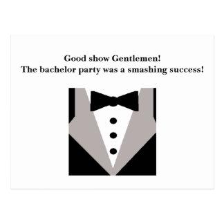 Bachelor Party Thank You Postcard
