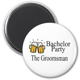 Bachelor Party The Groomsman 2 Inch Round Magnet