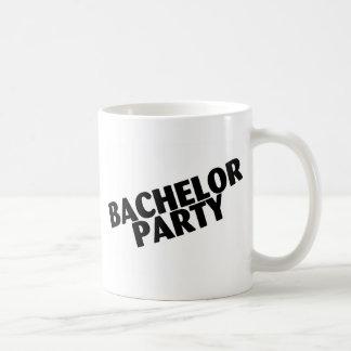 Bachelor Party Wedding Black Coffee Mugs