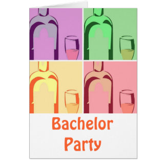 Bachelor Party Wine Greeting Card