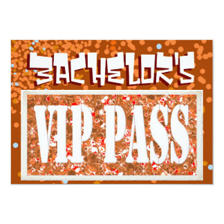 Bachelor red vip party invitation