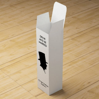 Bachelor Silhouette Wine Bottle Boxes