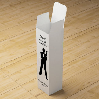 Bachelor Silhouette Wine Gift Boxes