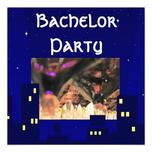 Bachelor stag party drinks cocktails invitation