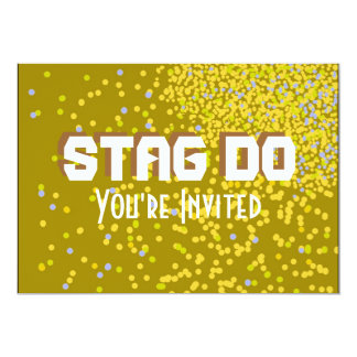 Bachelor Stag Party gold invite