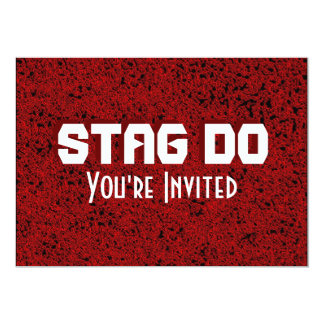 Bachelor Stag Party red invite
