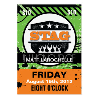 Bachelor / Stag Tickets Business Card