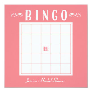 Bachelorette, Baby or Bridal Shower Bingo Cards