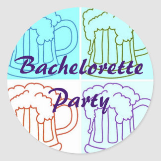 Bachelorette Beer Party Classic Round Sticker