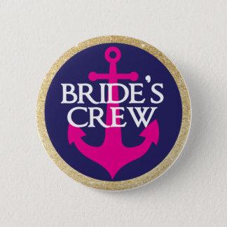 Bachelorette Button- Last Sail Before The Veil 2 Inch Round Button