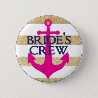 Bachelorette Button- Last Sail Before The Veil 2 Inch Round Button