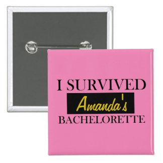 Bachelorette Custom Pink Pin