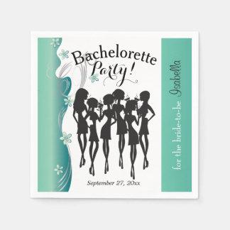 Bachelorette Girl's Party -  Jade Disposable Napkin