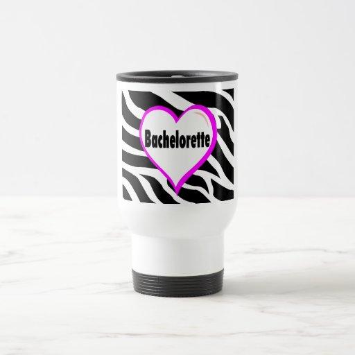 Bachelorette (Heart Zebra Stripes) Coffee Mugs