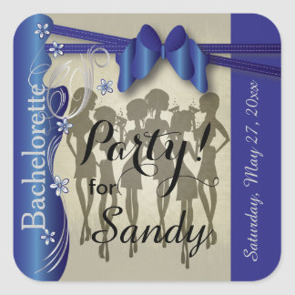 Bachelorette or Birthday Diva Girls - Sapphire Square Sticker