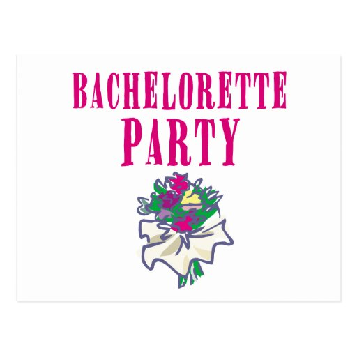 Bachelorette Party Apparel and Gifts Post Cards