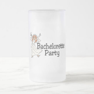 Bachelorette Party Bride 16 Oz Frosted Glass Beer Mug
