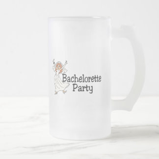 Bachelorette Party Bride Frosted Glass Mug