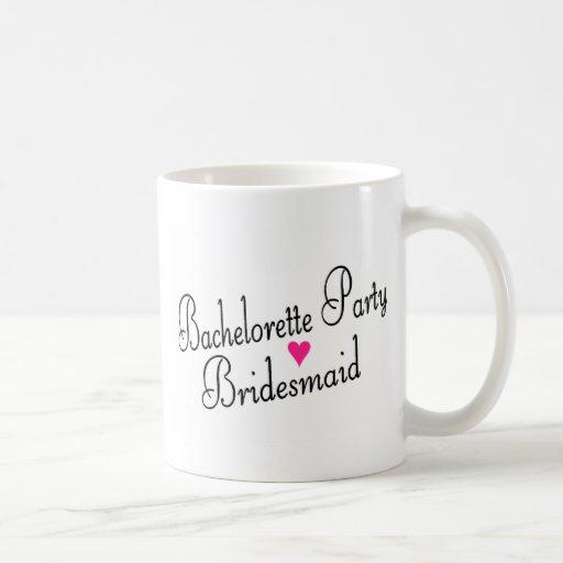 Bachelorette Party Bridesmaid Coffee Mugs