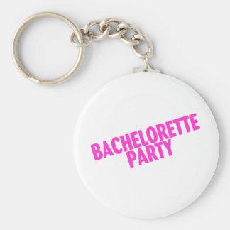 Bachelorette Party Bridesmaids Pink Key Chain
