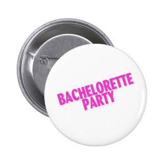 Bachelorette Party Bridesmaids Pink Pins