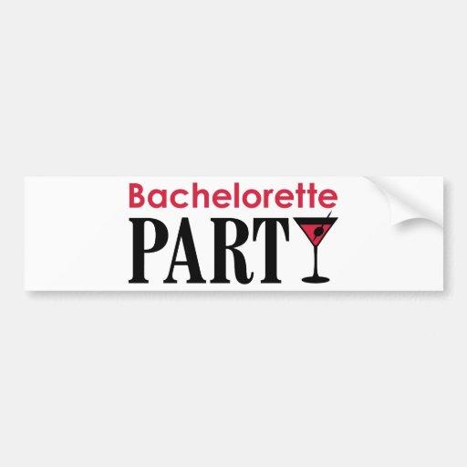 Bachelorette party bumper stickers