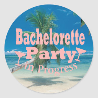 Bachelorette Party Classic Round Sticker