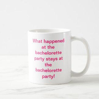 Bachelorette party coffee cup basic white mug