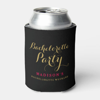 Bachelorette party custom add bride's name bridal can cooler