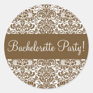 Bachelorette Party Damask Envelope Seal