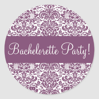 Bachelorette Party Damask Envelope Seal