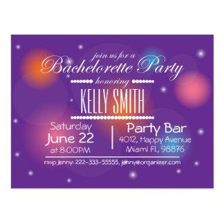 Bachelorette party design card postcard