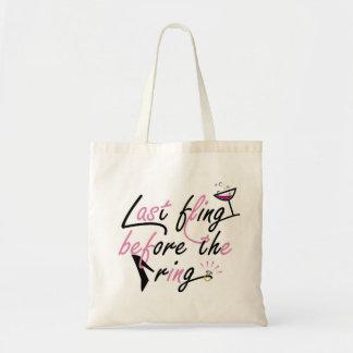 Bachelorette party design tote bag