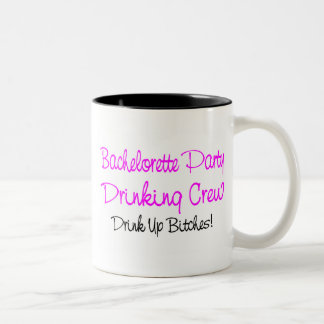 Bachelorette Party Drinking Crew Two-Tone Mug