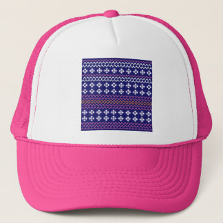 Bachelorette party folk set blue trucker hat