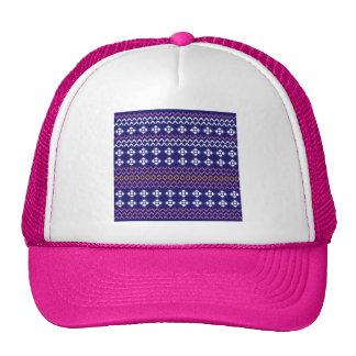 Bachelorette party folk set blue trucker hat