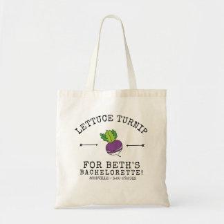 Bachelorette Party Funny Turnip Vegetable Pun Tote Bag