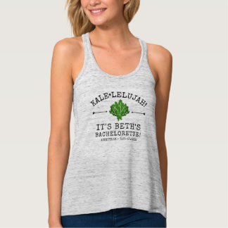 Bachelorette Party Funny Vegetable Kale Pun Custom Tank Top