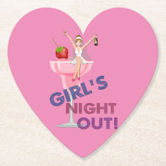Bachelorette Party Girl's Night Out Party Paper Coaster
