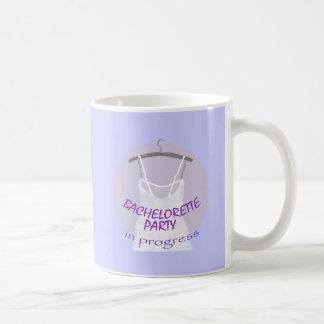 Bachelorette Party in Progress design Classic White Coffee Mug