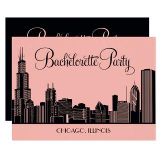 Bachelorette Party Invitations | Chicago Skyline