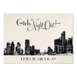 Bachelorette Party Invitations | Detroit Skyline