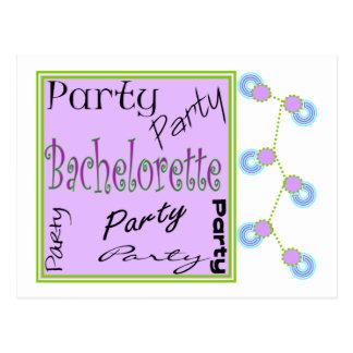 Bachelorette Party Invitations Postcard