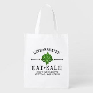 Bachelorette Party Kale Vegetarian Foodie Custom Reusable Grocery Bag