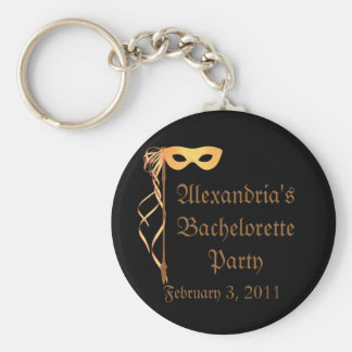 """Bachelorette Party"" - Masquerade Theme Keychain"