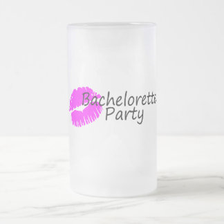 Bachelorette Party Pink Kiss Mug