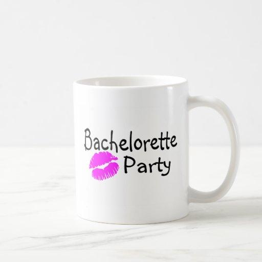 Bachelorette Party Pink Lips Mug