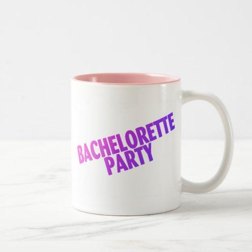 Bachelorette Party Pink Purple Blue Mug